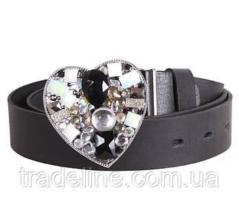 Женский кожаный ремень Dovhani BLX2501-33804 115-125 см Черный