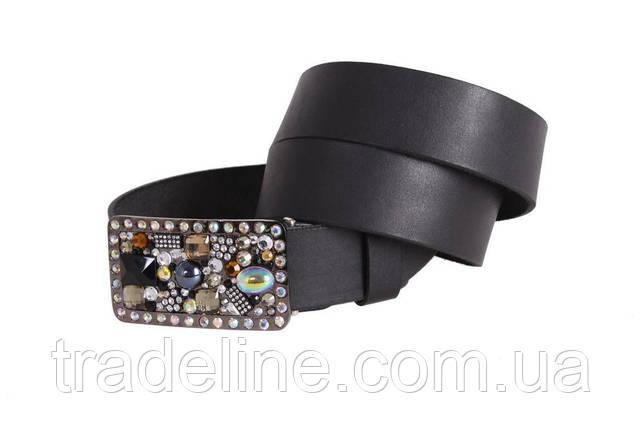 Женский кожаный ремень Dovhani blx90288808 115-125 см Черный, фото 2