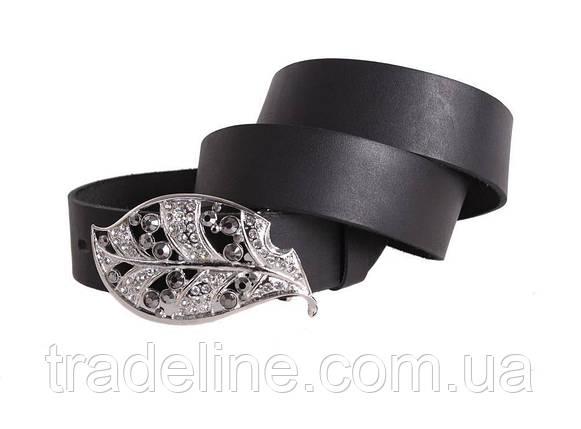 Женский кожаный ремень Dovhani blx90381813 120-126 см Черный, фото 2
