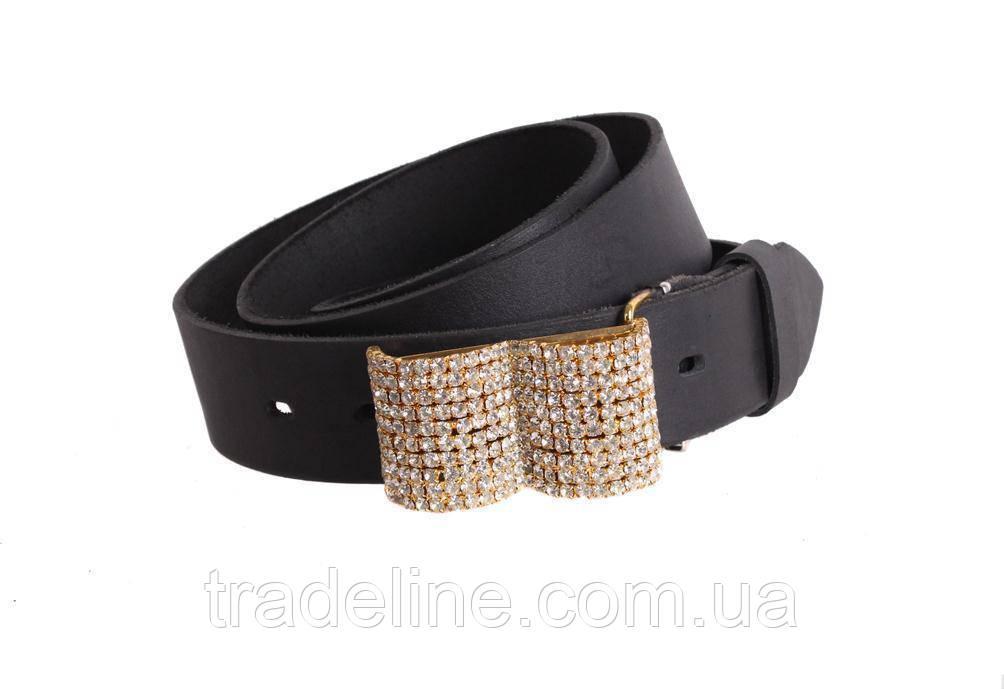Женский кожаный ремень Dovhani blx90393814 120-126 см Черный