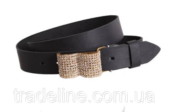 Женский кожаный ремень Dovhani blx90393814 120-126 см Черный, фото 2