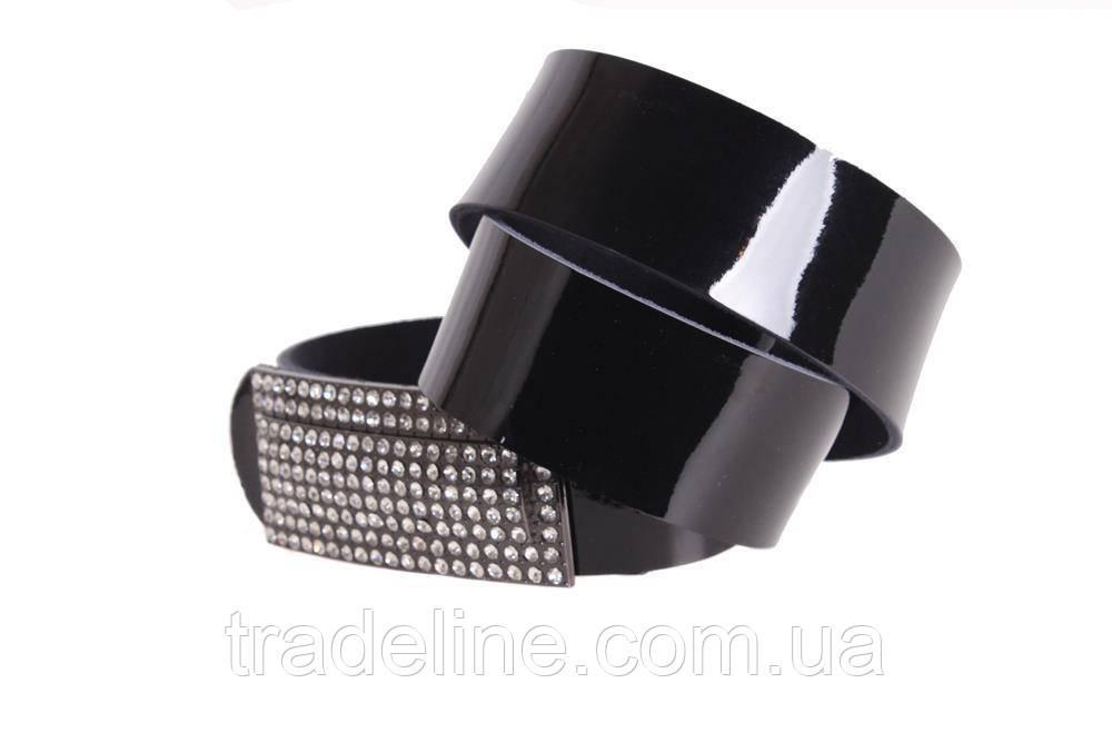 Женский кожаный ремень Dovhani W167816 102-110 см Черный