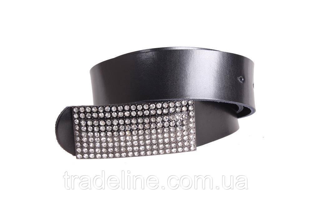 Женский кожаный ремень Dovhani W168817 102-110 см Черный