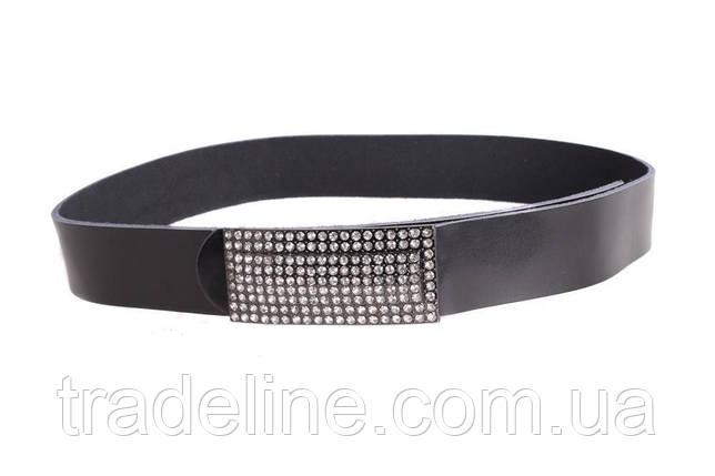 Женский кожаный ремень Dovhani W168817 102-110 см Черный, фото 2