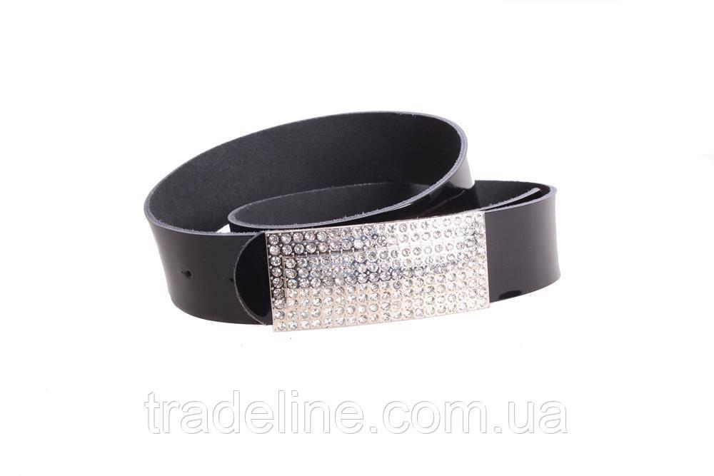 Женский кожаный ремень Dovhani W169818 102-110 см Черный