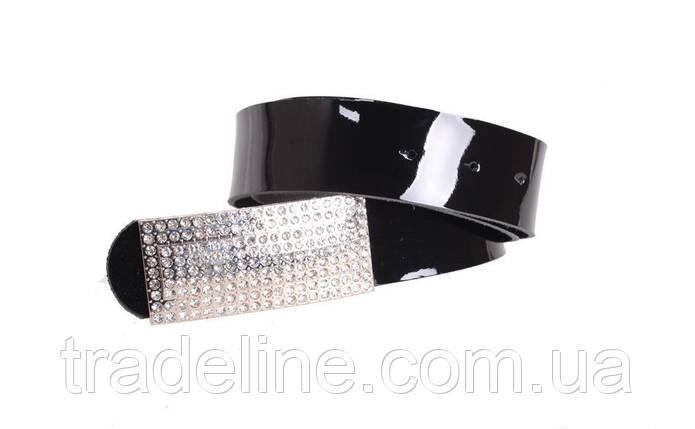 Женский кожаный ремень Dovhani W169818 102-110 см Черный, фото 2