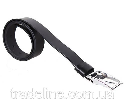 Мужской кожаный ремень Dovhani OC1212-25822 115-125 см Черный, фото 2