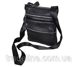 Мужская кожаная сумка Dovhani 302BL827 Черная, фото 2