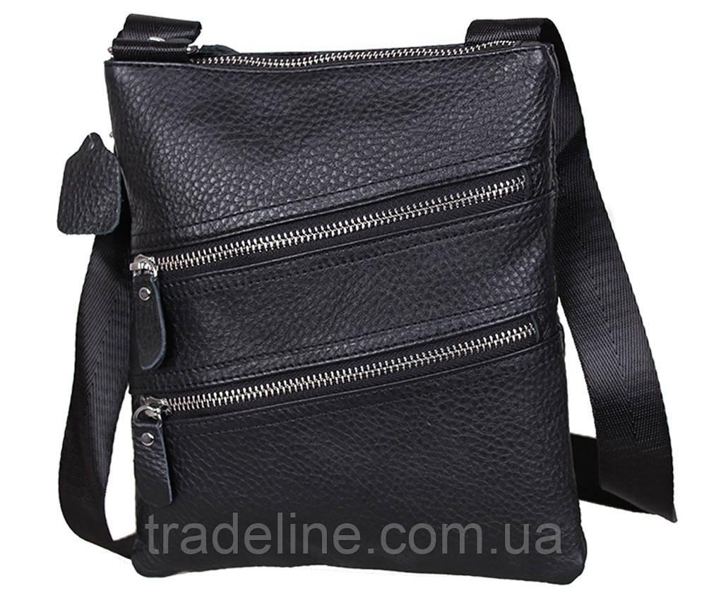 Мужская кожаная сумка Dovhani 304BL827 Черная