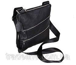 Мужская кожаная сумка Dovhani 304BL827 Черная, фото 3