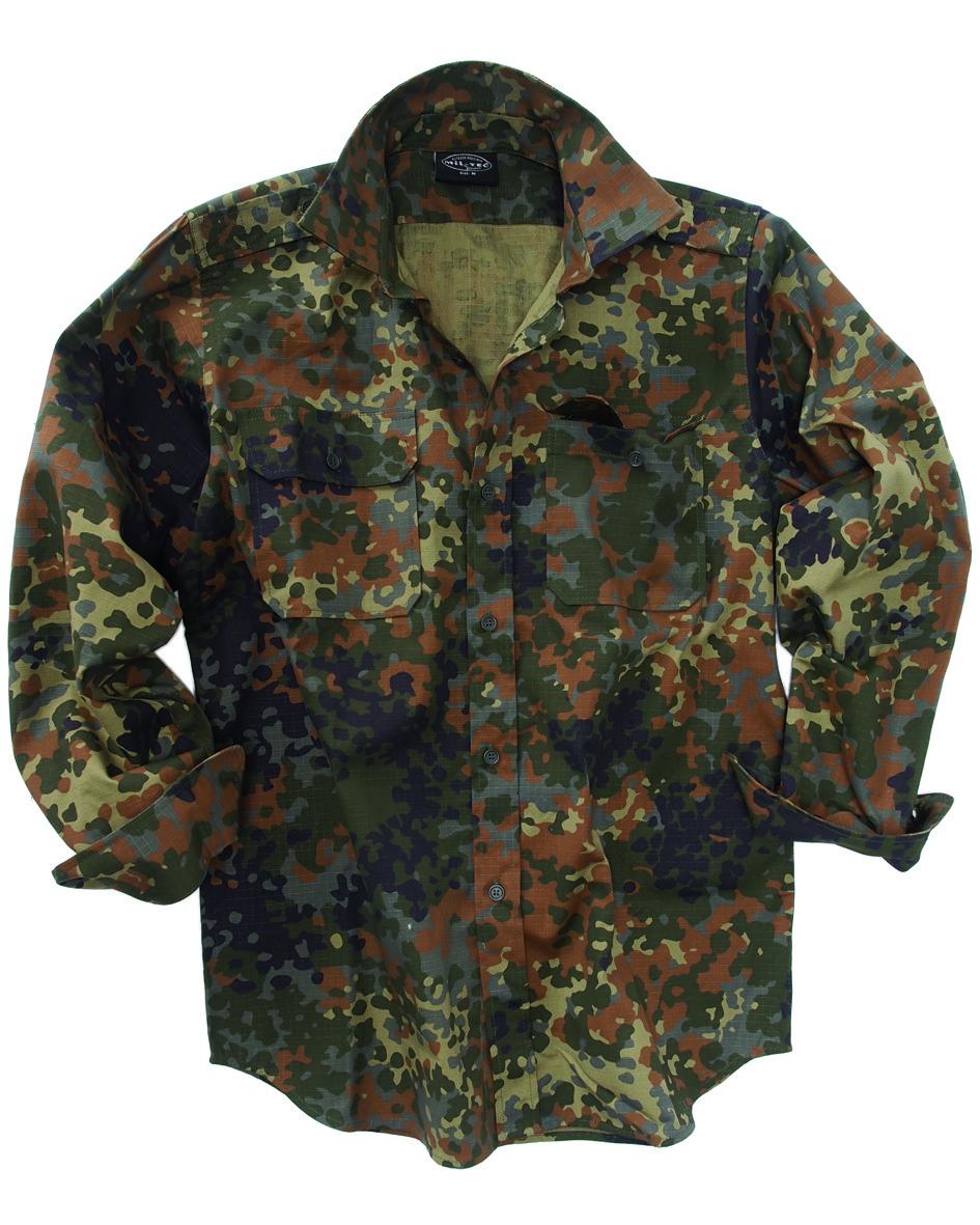 Рубашка с длинным рукавом MilTec Rip Stop Flectarn 10915021