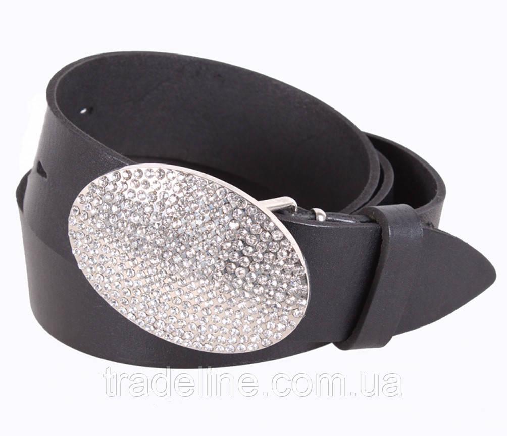 Женский кожаный ремень Dovhani UKK712-15832 115-125 см Черный