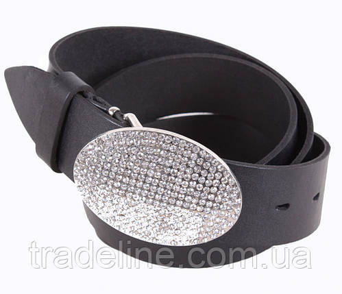 Женский кожаный ремень Dovhani UKK712-15832 115-125 см Черный, фото 2