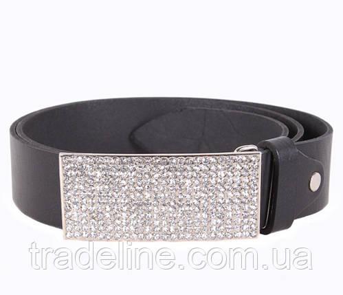 Женский кожаный ремень Dovhani UKK712-16834 115-125 см Черный, фото 2