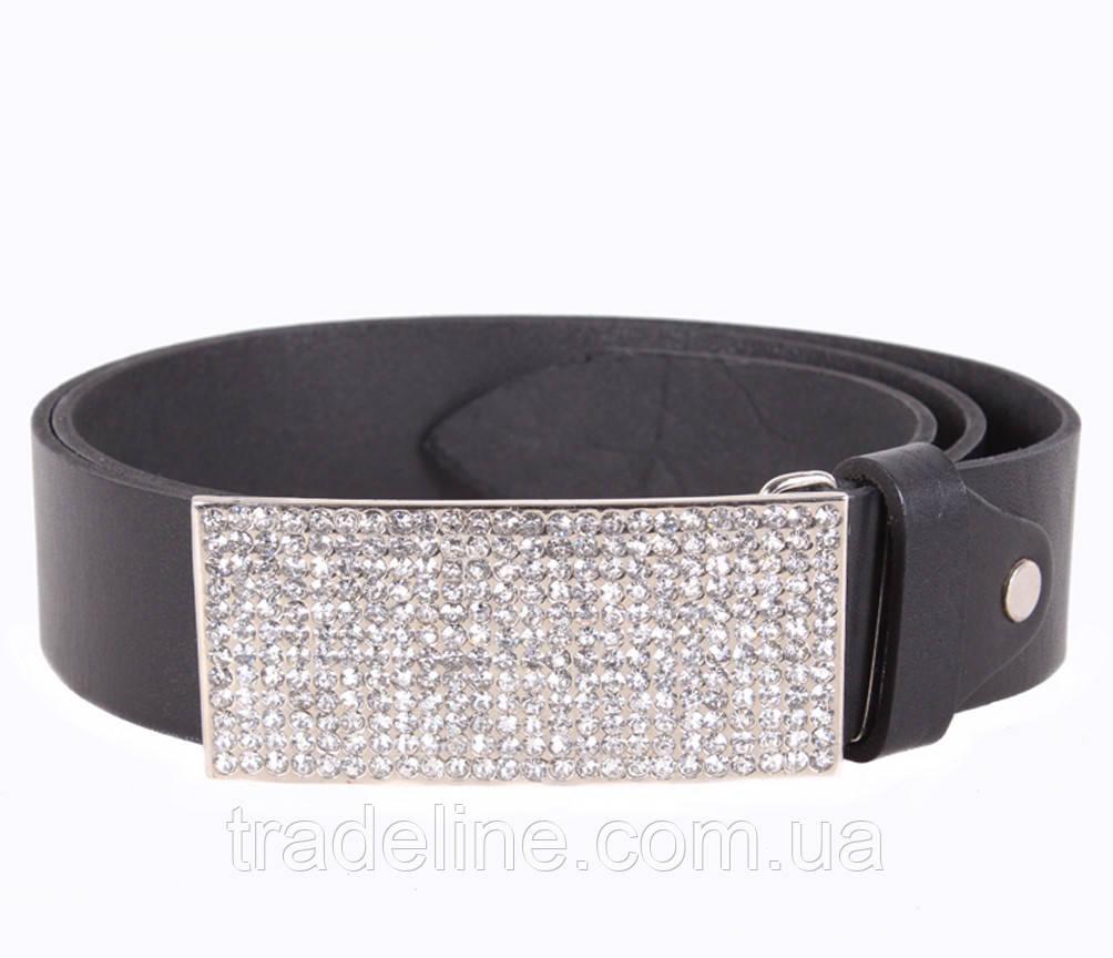 Женский кожаный ремень Dovhani UKK712-16834 115-125 см Черный