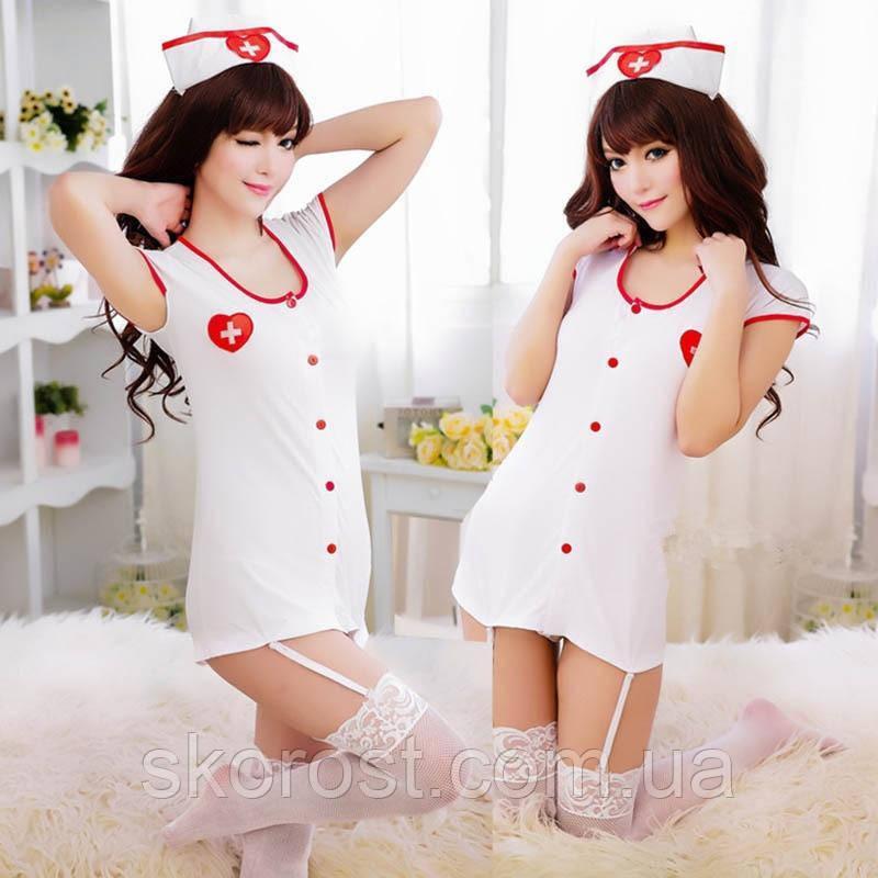 Халат медсестры с подвязками