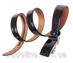 Мужской кожаный ремень Dovhani MJ0007-5850 115-125 см Черный, фото 2