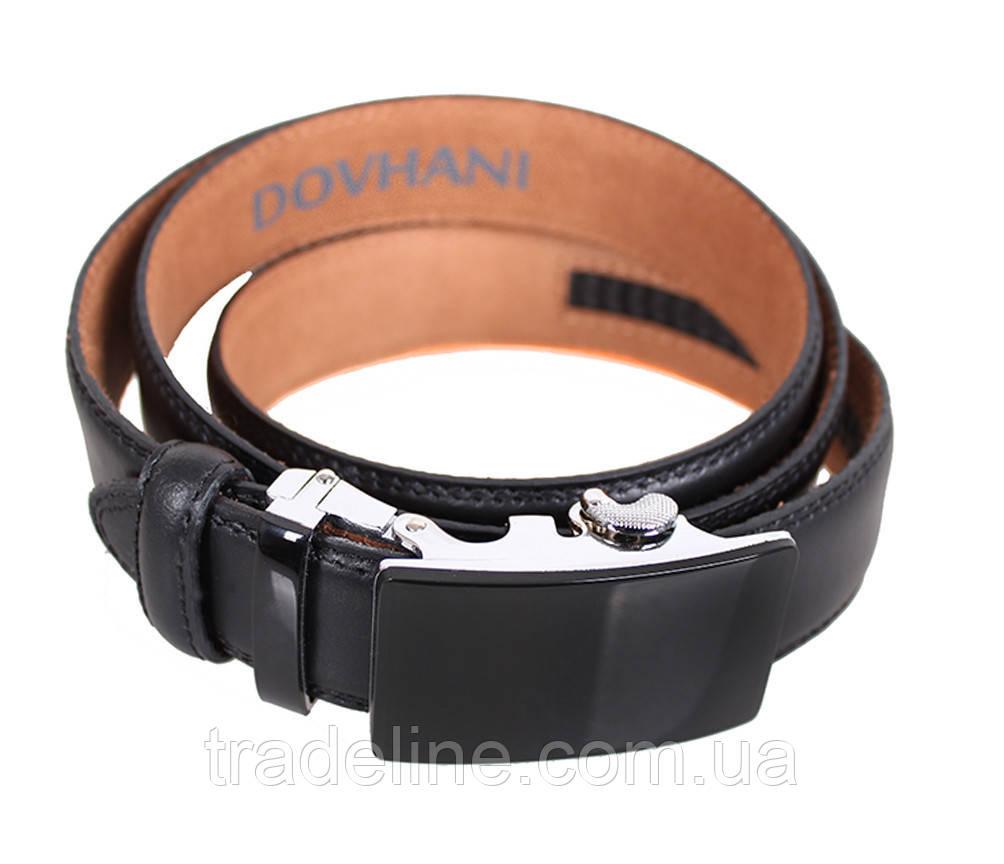 Мужской кожаный ремень Dovhani MJ0007-6851 115-125 см Черный