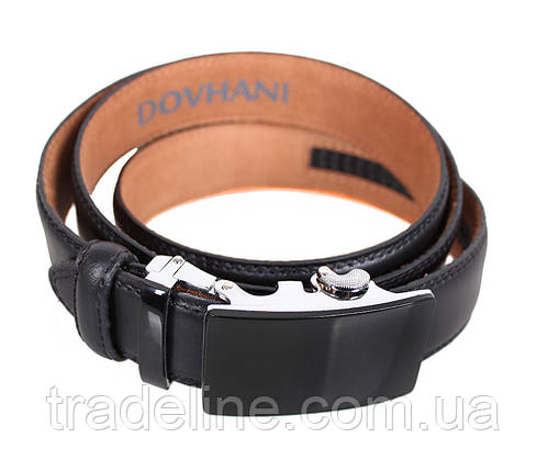 Мужской кожаный ремень Dovhani MJ0007-6851 115-125 см Черный, фото 2