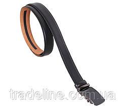 Мужской кожаный ремень Dovhani MJ0007-7852 115-125 см Черный, фото 3