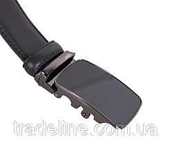 Мужской кожаный ремень Dovhani MJ0007-7852 115-125 см Черный, фото 2