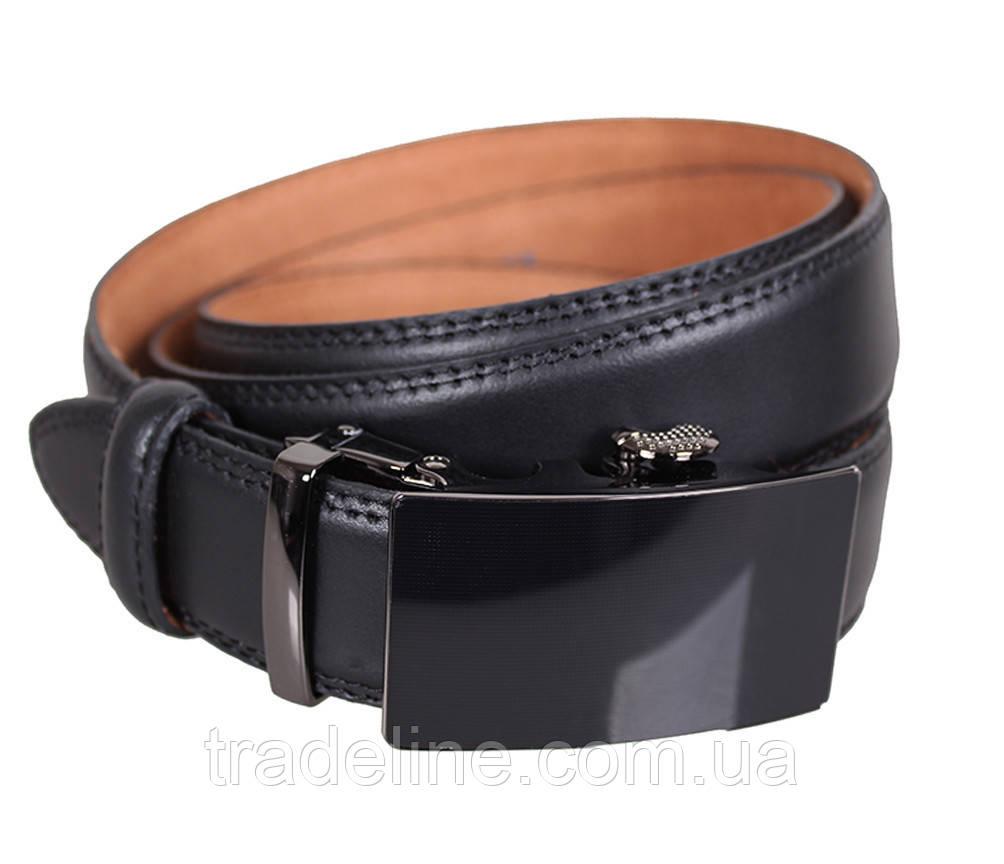 Мужской кожаный ремень Dovhani MJ0007-8853 115-125 см Черный