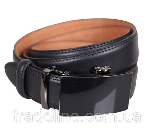 Мужской кожаный ремень Dovhani MJ0007-8853 115-125 см Черный, фото 2
