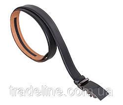Мужской кожаный ремень Dovhani MJ0007-8853 115-125 см Черный, фото 3