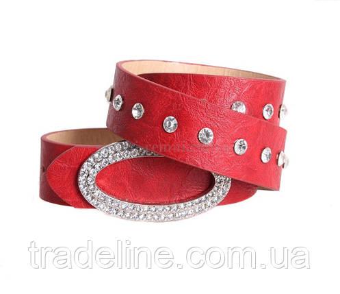 Женский ремень Dovhani COL769-160883 115 см Красный, фото 2