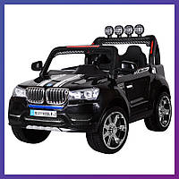 Детский электромобиль Джип BMW c пультом Bambi M 3118 EBLR-2 черный | Дитячий електромобіль Бембі чорний