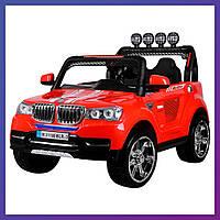 Детский электромобиль Джип BMW c пультом Bambi M 3118 EBLR-3 красный   Дитячий електромобіль Бембі червоний