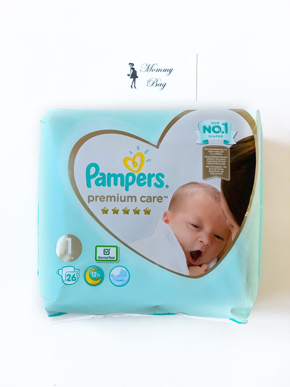 Подгузники Pampers Premium Care - 1 New Born (2 - 5 кг) 26 шт.