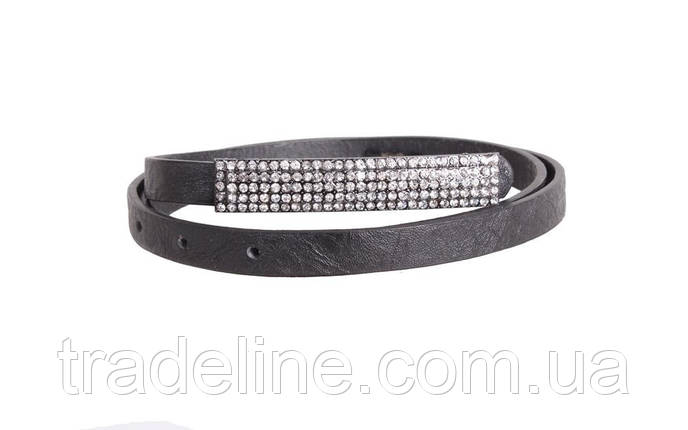 Женский узкий ремень Dovhani W141-555 100 см Черный, фото 2