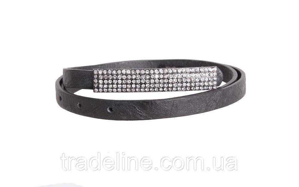 Женский узкий ремень Dovhani W141-555 100 см Черный