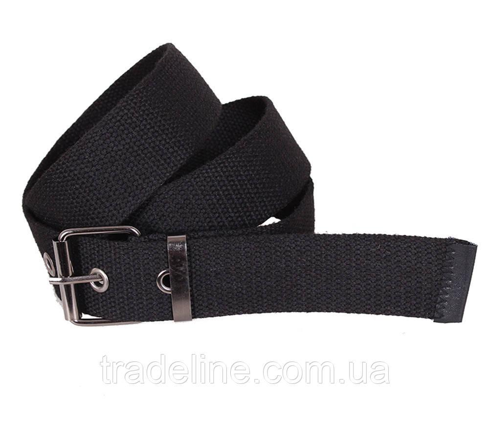 Мужской текстильный ремень Dovhani YK002-2704-555 115 см Черный