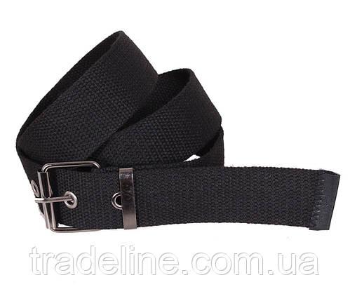 Мужской текстильный ремень Dovhani YK002-2704-555 115 см Черный, фото 2