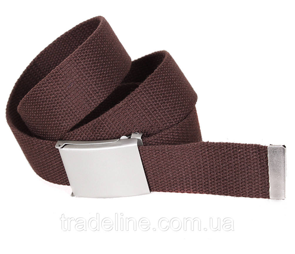 Мужской текстильный ремень Dovhani YK0035-2704-555 115 см Коричневый