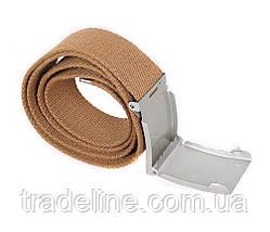 Мужской текстильный ремень Dovhani YK0039-2704-555 115 см Бежевый, фото 3