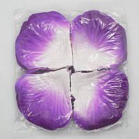 Искусственные лепестки роз бело-фиолетовые 140 шт, фото 1