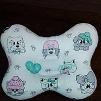 Подушка- ортопедическая для новорожденного. Бабочка. наполнитель холлофайбер.
