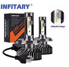 INFITARY Philips Chip Авто LED/Лед лампи h1,h3,h4,h7,h8,9,10,11,h13,h
