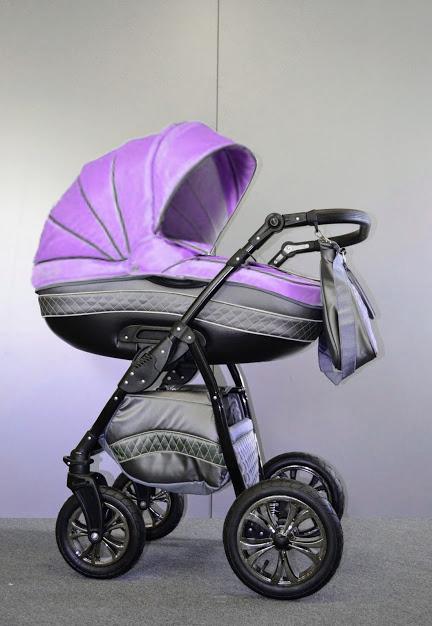 Универсальная коляска 2 в 1 Ajax Group Lilac, серый+сиреневый (98/130)