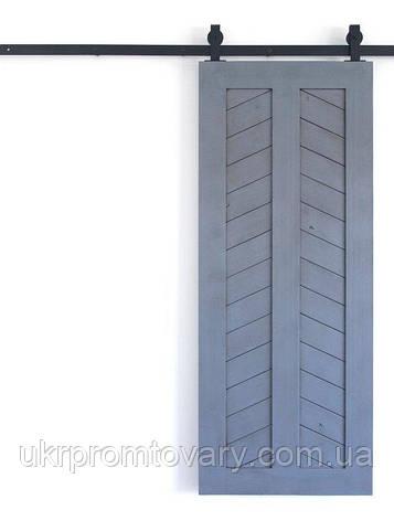Амбарная дверь LOFT DESIGN 63120, НАТУРАЛЬНОЕ ДЕРЕВО, мебель Лофт Производство в Киеве, фото 2