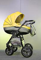 Универсальная коляска 2 в 1 Ajax Group Sun, серый+желтый (98/17)