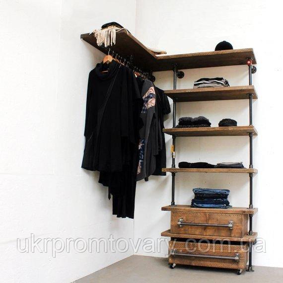 Вішалка для одягу LOFT DESIGN 63313, НАТУРАЛЬНЕ ДЕРЕВО, меблі Лофт Виробництво в Києві