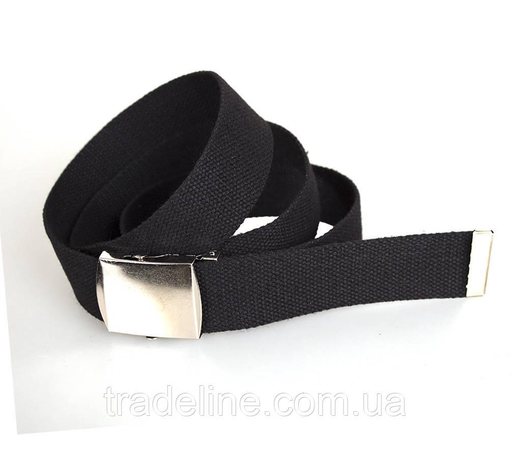 Мужской текстильный ремень Dovhani DH3503-13BLACK-555 115-130 см Черный