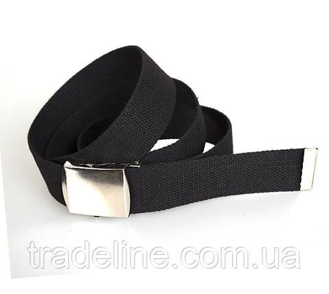 Мужской текстильный ремень Dovhani DH3503-13BLACK-555 115-130 см Черный, фото 2