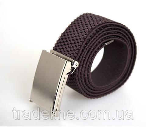 Мужской текстильный ремень Dovhani DH3503-16COFFEE-555 115 см Коричневый, фото 2
