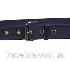 Мужской текстильный ремень Gatar E5698-18GBLUE-555 115-130 см Синий, фото 2
