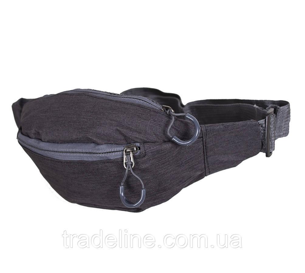 Сумка текстильная на пояс Dovhani Y302-1BLACK1-555 Черная
